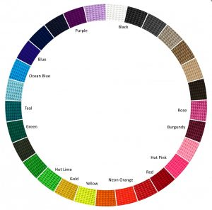 Webbing colours available