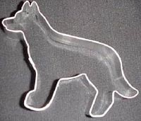 standing dog cookie cutter