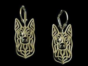 gold kelpie earrings