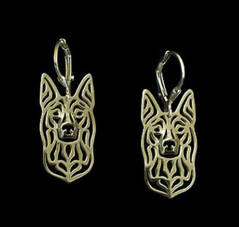 gold kelpie earrings