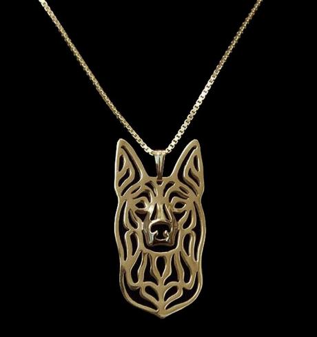 gold kelpie pendant
