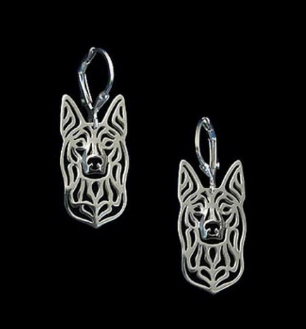 silver kelpie earrings