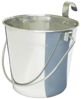 Flat backed bucket