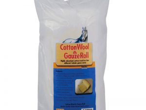 cotton wool and gauze roll